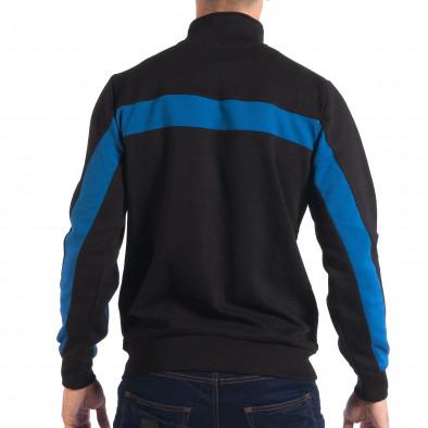 Hanorac negru de bărbați House cu părți albastre lp080818-115 3