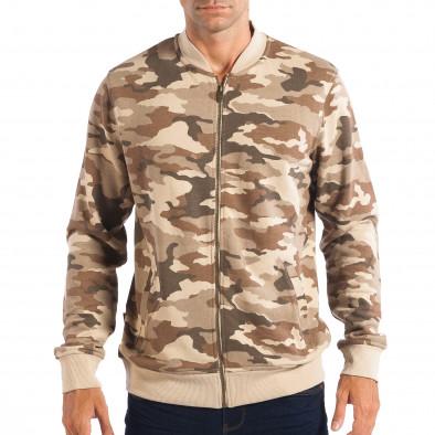 Hanorac camuflaj pentru bărbați CROPP cu fermoar lp080818-24 2