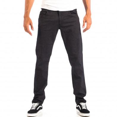 Pantaloni Slim pentru bărbați RESERVED în melanj negru lp060818-111 2