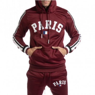 Hanorac pentru bărbați Paris în bordo it261018-69 2