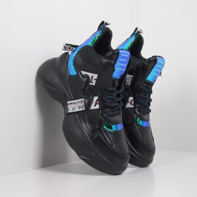 Pantofi sport de dama înalți cu accente neon it260919-64 4