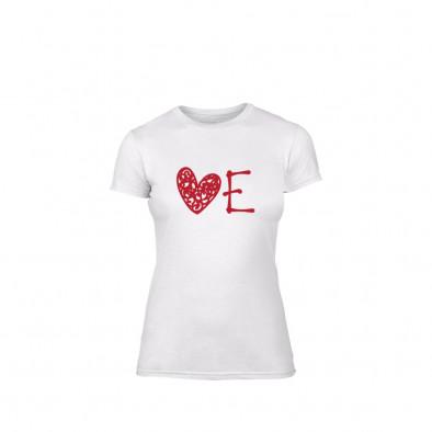 Tricou de dama Love alb, mărimea S TMNLPF052S 2