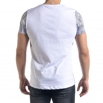 Tricou bărbați Lagos alb tr110320-33 3