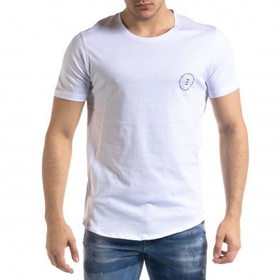 Tricou bărbați Breezy alb tr110320-47 3