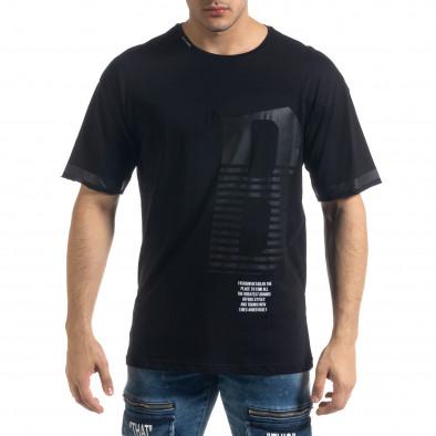 Tricou bărbați Breezy negru tr110320-38 2
