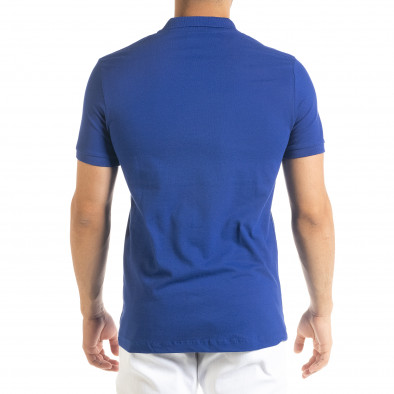 Tricou cu guler bărbați Clang albastru tr080520-52 3