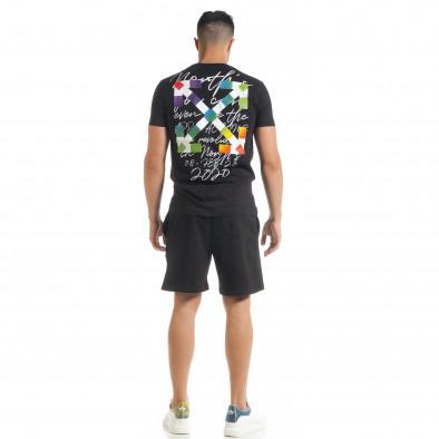 Set sportiv negru pentru bărbați cu imprimeu 2020 tr080520-67 4
