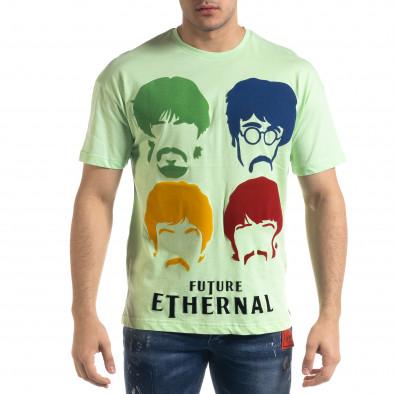 Tricou bărbați SAW verde tr110320-4 2