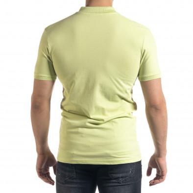 Tricou cu guler bărbați Lagos verde tr110320-18 3