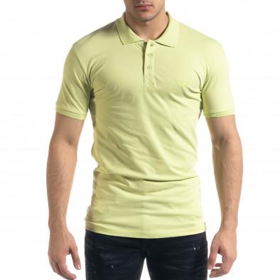 Tricou cu guler bărbați Lagos verde tr110320-18 2