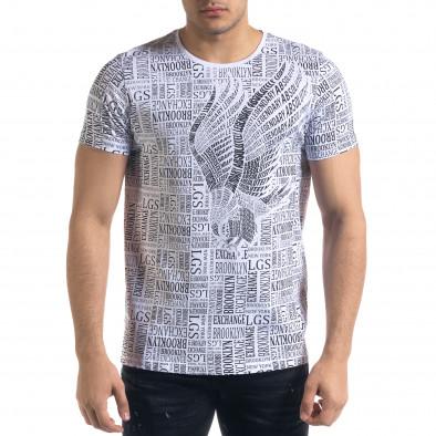 Tricou bărbați Lagos alb tr110320-33 2