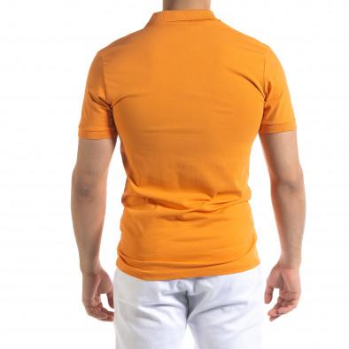 Tricou cu guler bărbați Lagos orange tr110320-15 3