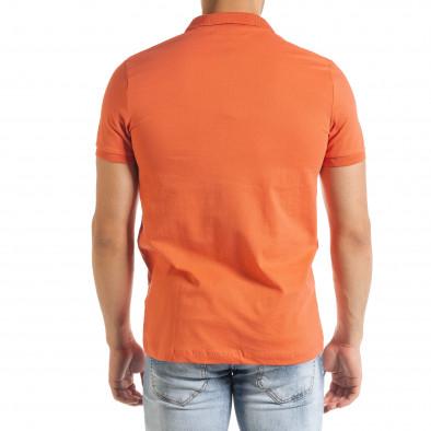 Tricou cu guler bărbați Clang orange tr080520-54 3