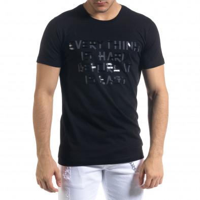 Tricou bărbați Clang negru tr110320-71 2