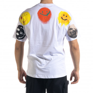 Tricou bărbați SAW alb tr110320-6 3