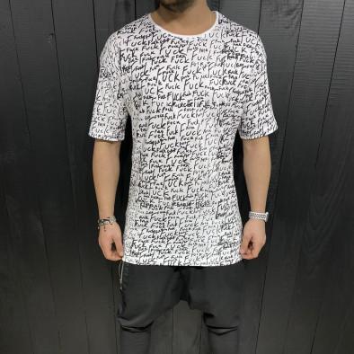 Tricou bărbați Black Island alb tr110320-88 2