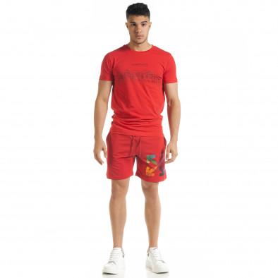 Set sportiv roșu pentru bărbați cu imprimeu tr080520-65 3