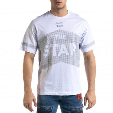 Tricou bărbați SAW alb tr110320-13 2