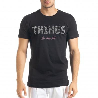 Tricou bărbați Clang negru tr080520-45 2