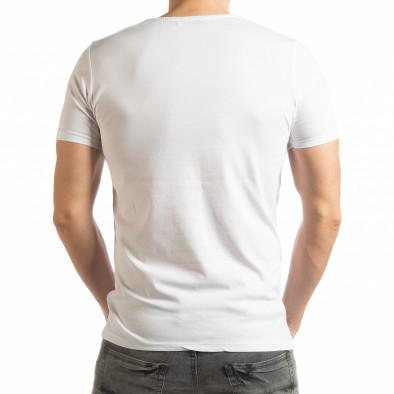 Tricou alb Criticize pentru bărbați tsf190219-63 3