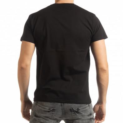 Tricou negru Street Run pentru bărbați tsf190219-83 3