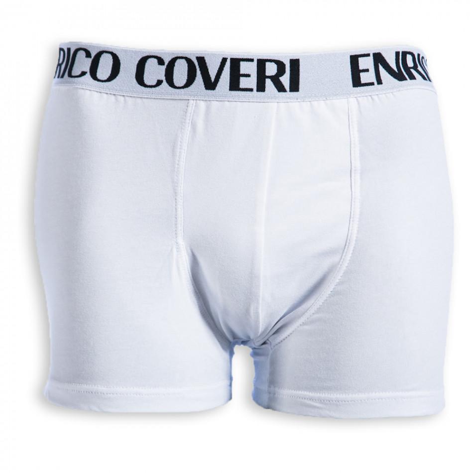 Boxeri bărbați Enrico Coveri albi EC/8013