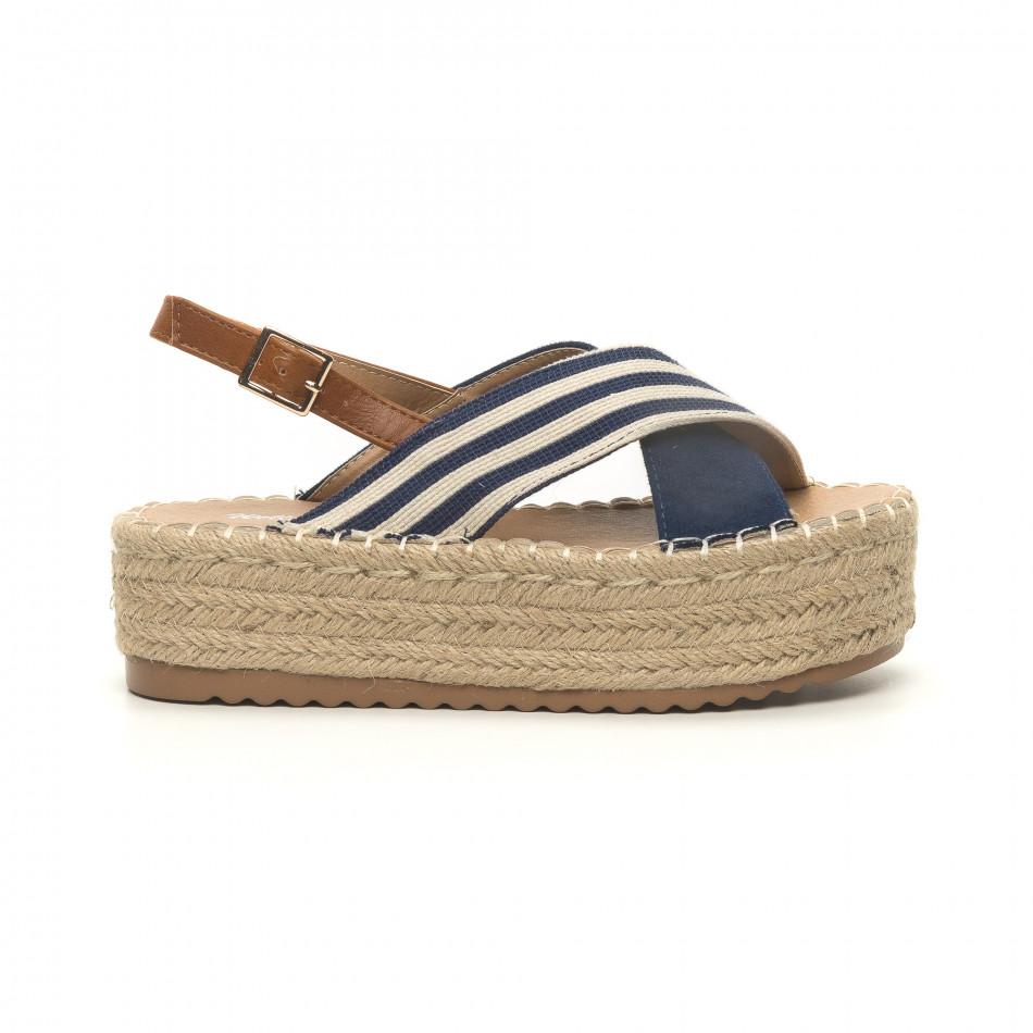 Sandale de dama albastre tip espadrile it050619-88