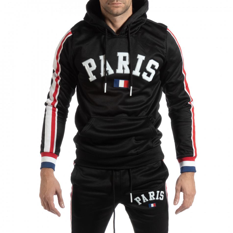Hanorac pentru bărbați Paris în negru it261018-68