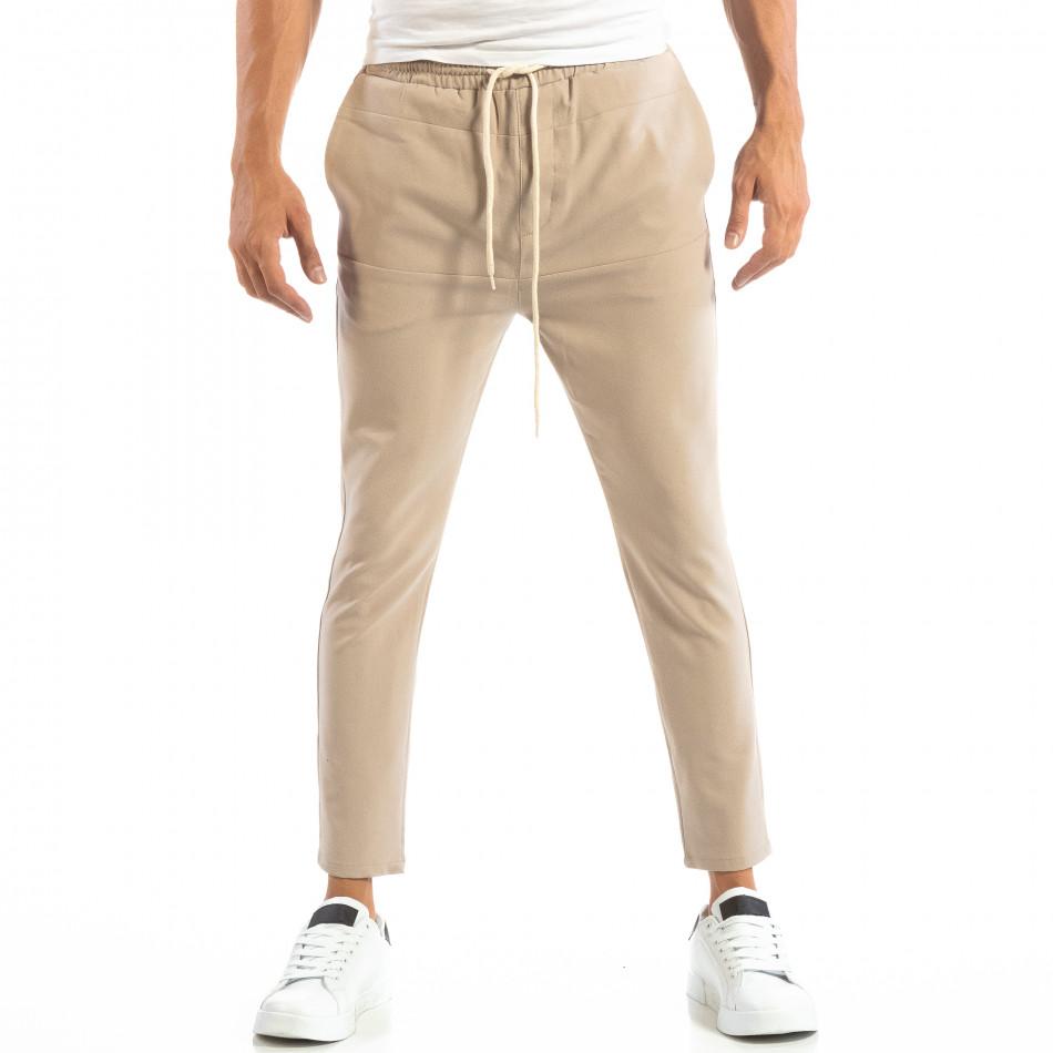 Pantaloni tip Jogger ușori în gri-bej pentru bărbați it240818-65