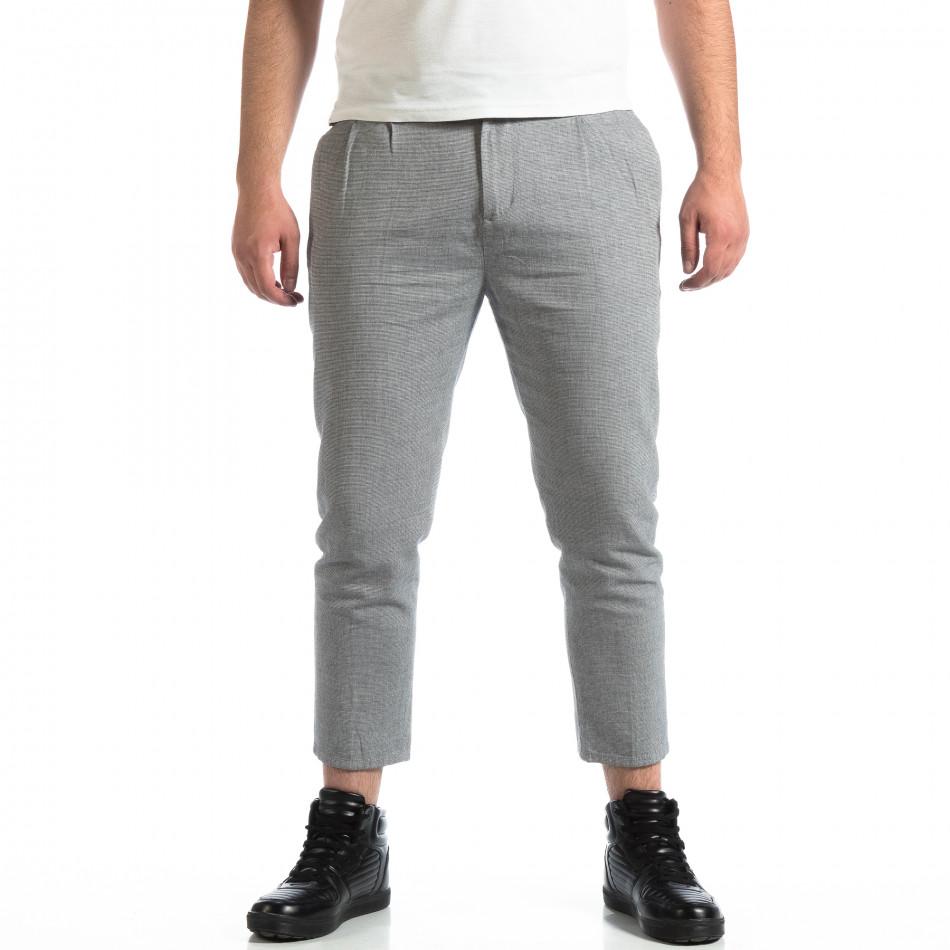 Pantaloni bărbați RESERVED gri lp290918-153