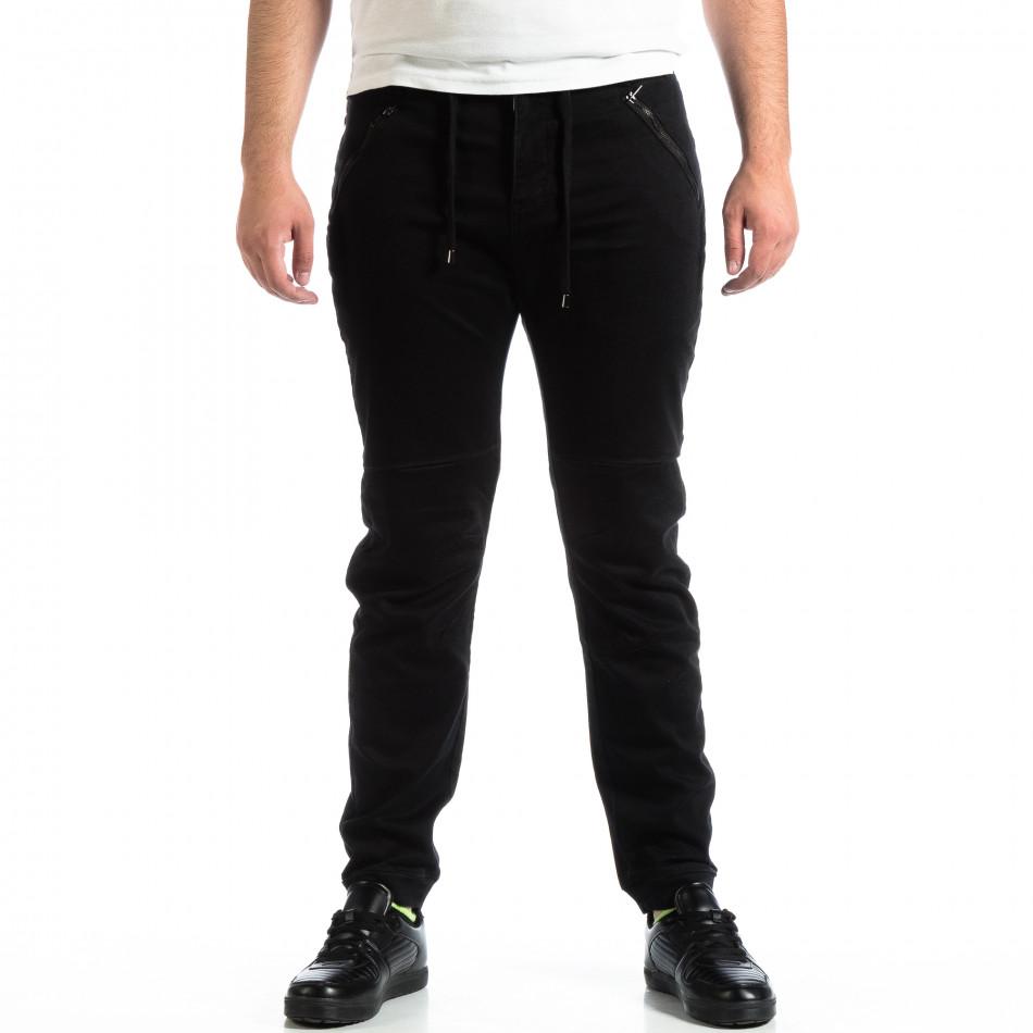 Pantaloni bărbați House negri lp290918-156