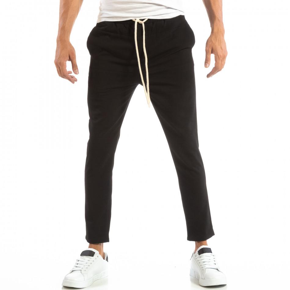 Pantaloni tip Jogger ușori în negru pentru bărbați it240818-67