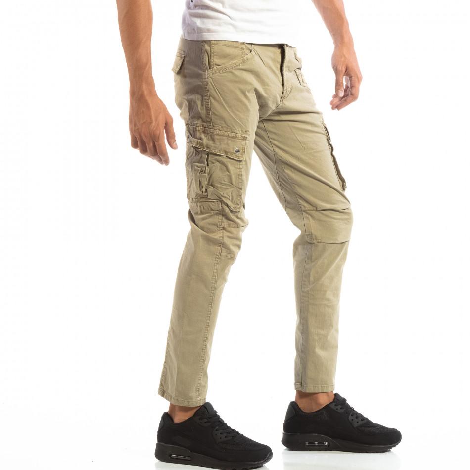 Pantaloni cargo bej pentru bărbați  it240818-3