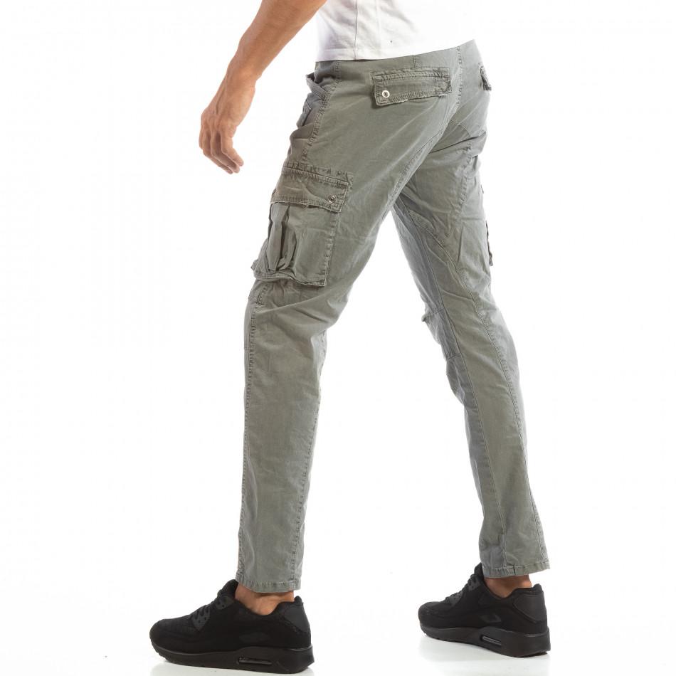 Pantaloni cargo gri pentru bărbați  it240818-2