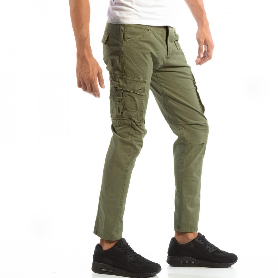 Pantaloni cargo verzi pentru bărbați  it240818-1