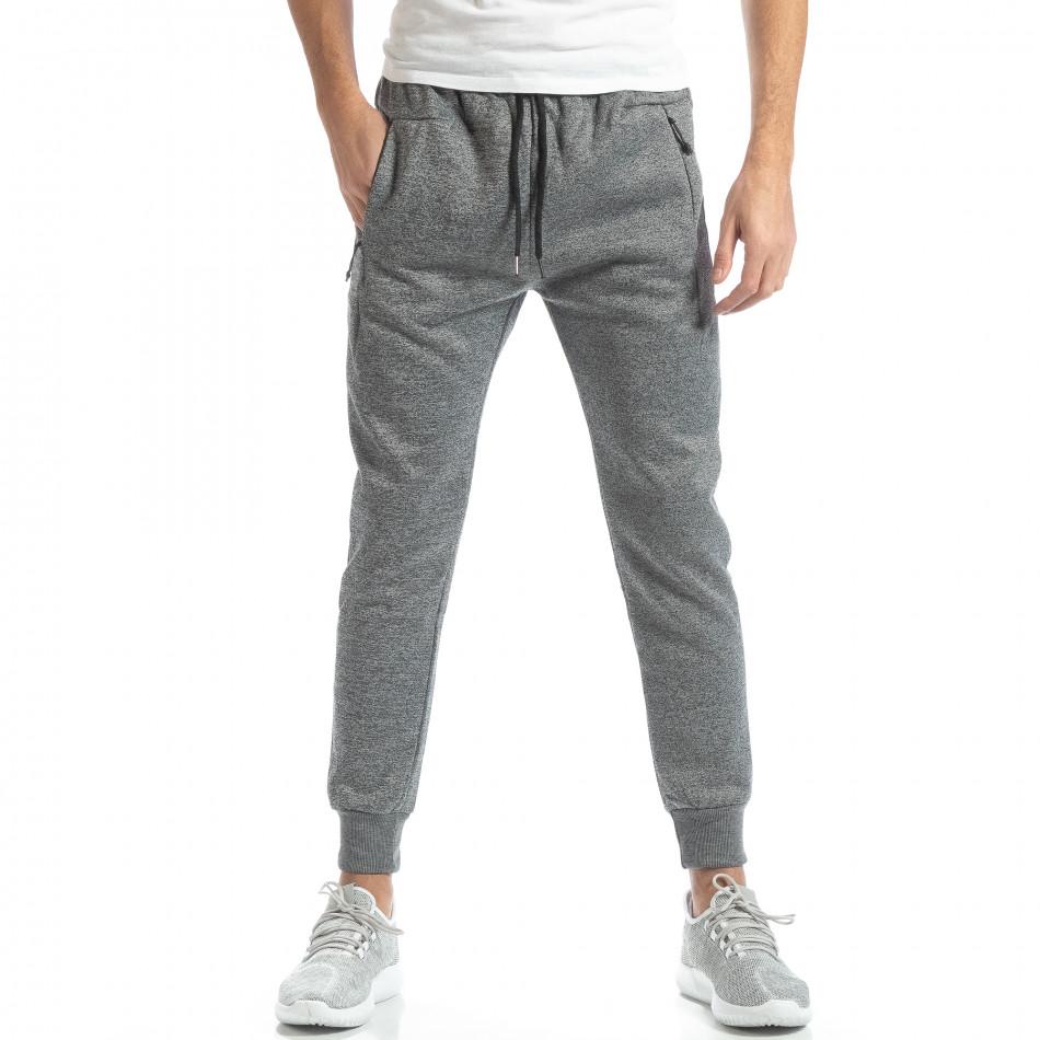 Jogger în melanj gri deschis pentru bărbați it051218-27