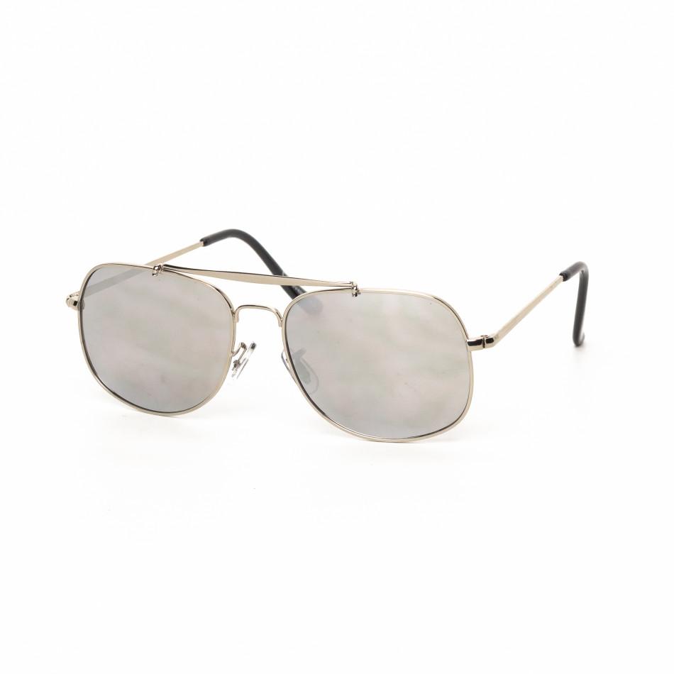 Ochelari de soare Oglindă cu rama argintie it030519-22