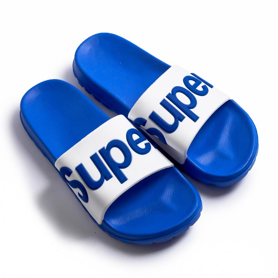 Papuci bărbați Super albaștri it260620-1