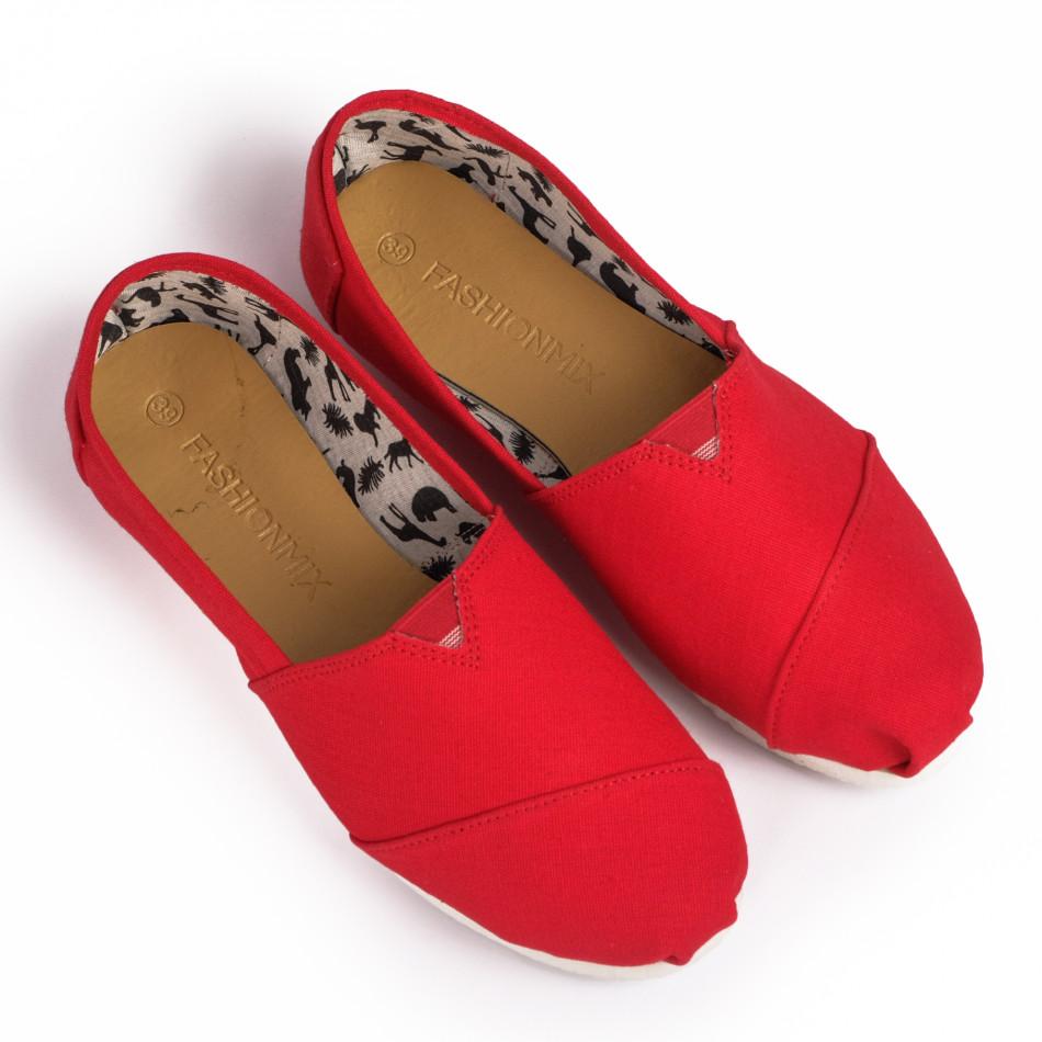 Espadrile bărbați Fashionmix roșii it020720-9
