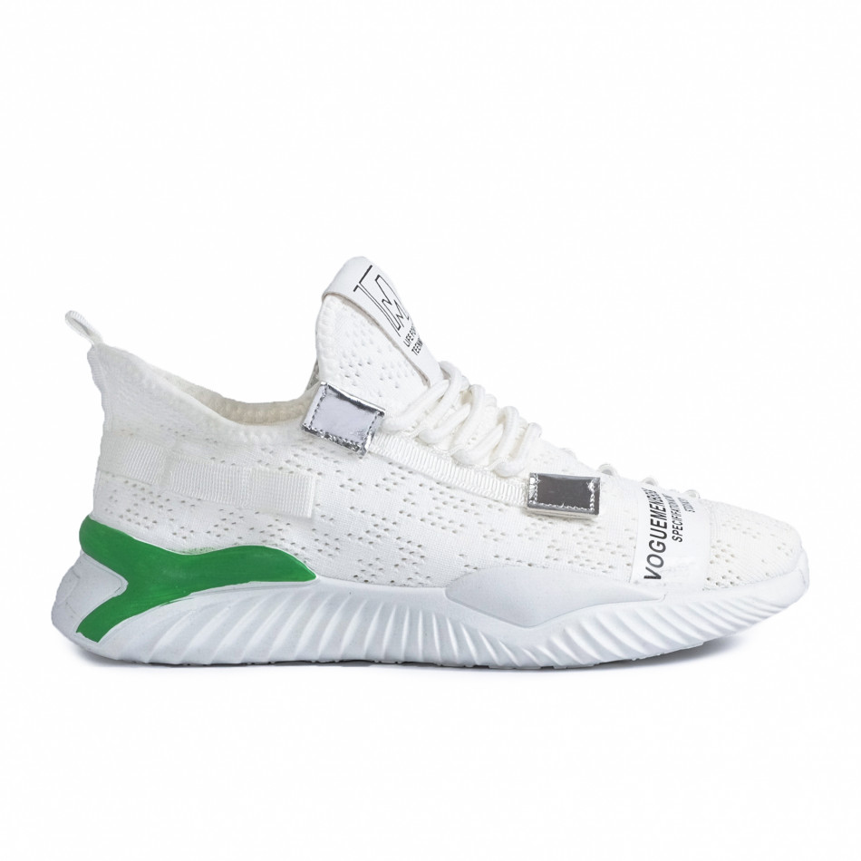 Teniși bărbați Fashion albi gr020221-4