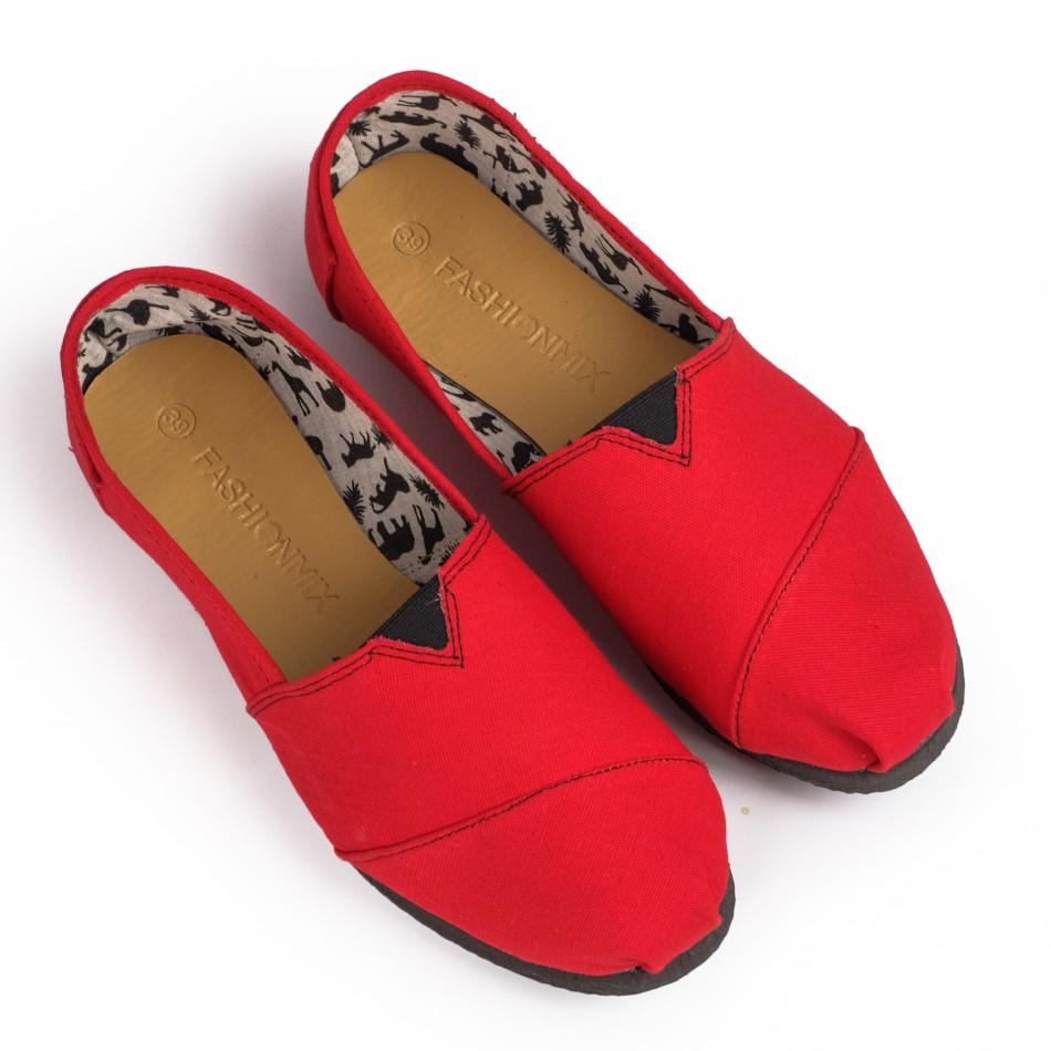 Espadrile bărbați Fashionmix roșii it020720-11