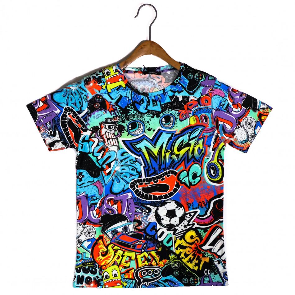 Tricou bărbați Made in Italy curcubeu it200421-6