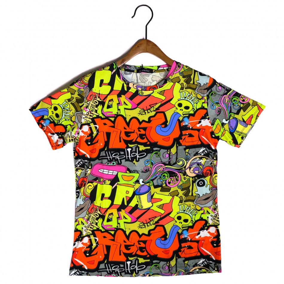 Tricou bărbați Made in Italy curcubeu it200421-10