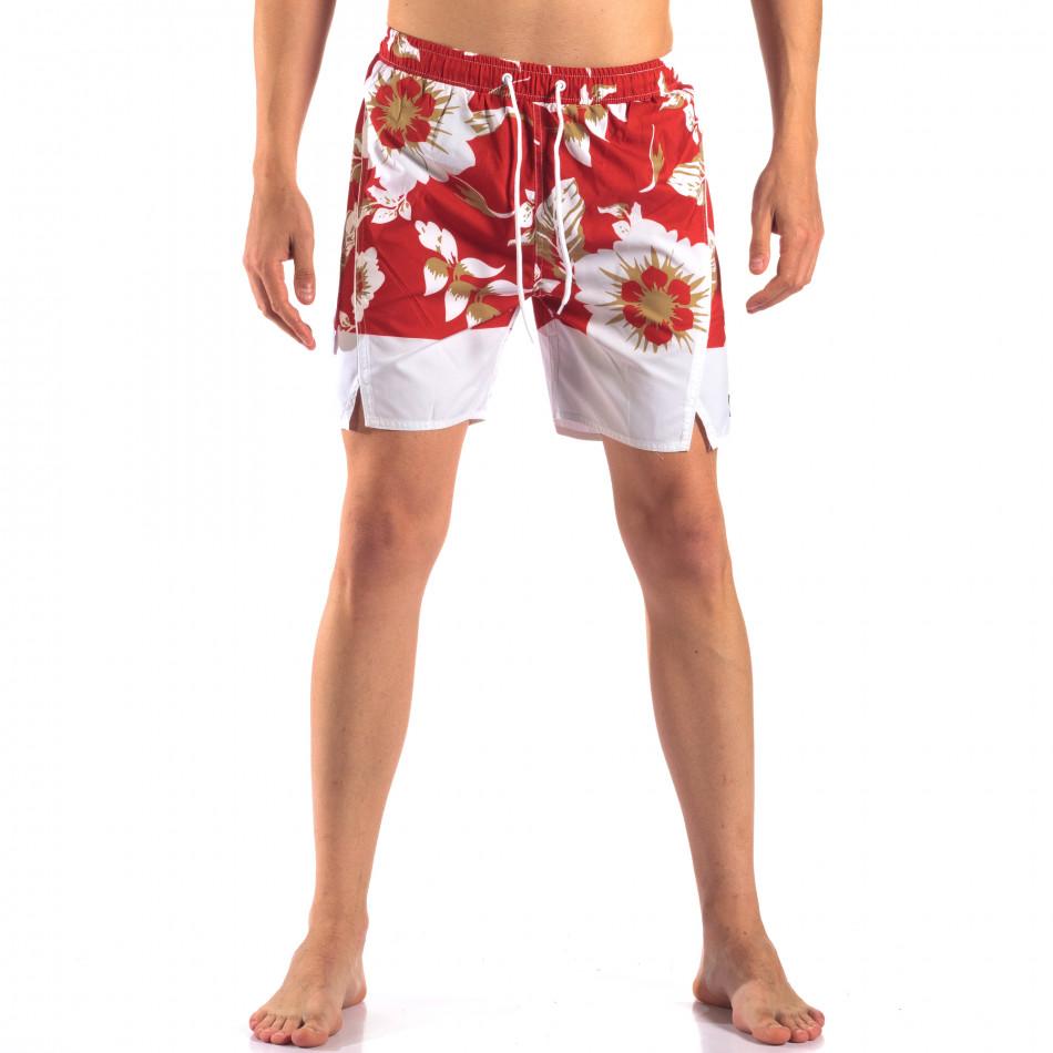 Costume de baie bărbați Austar Jeans roșu it150616-21