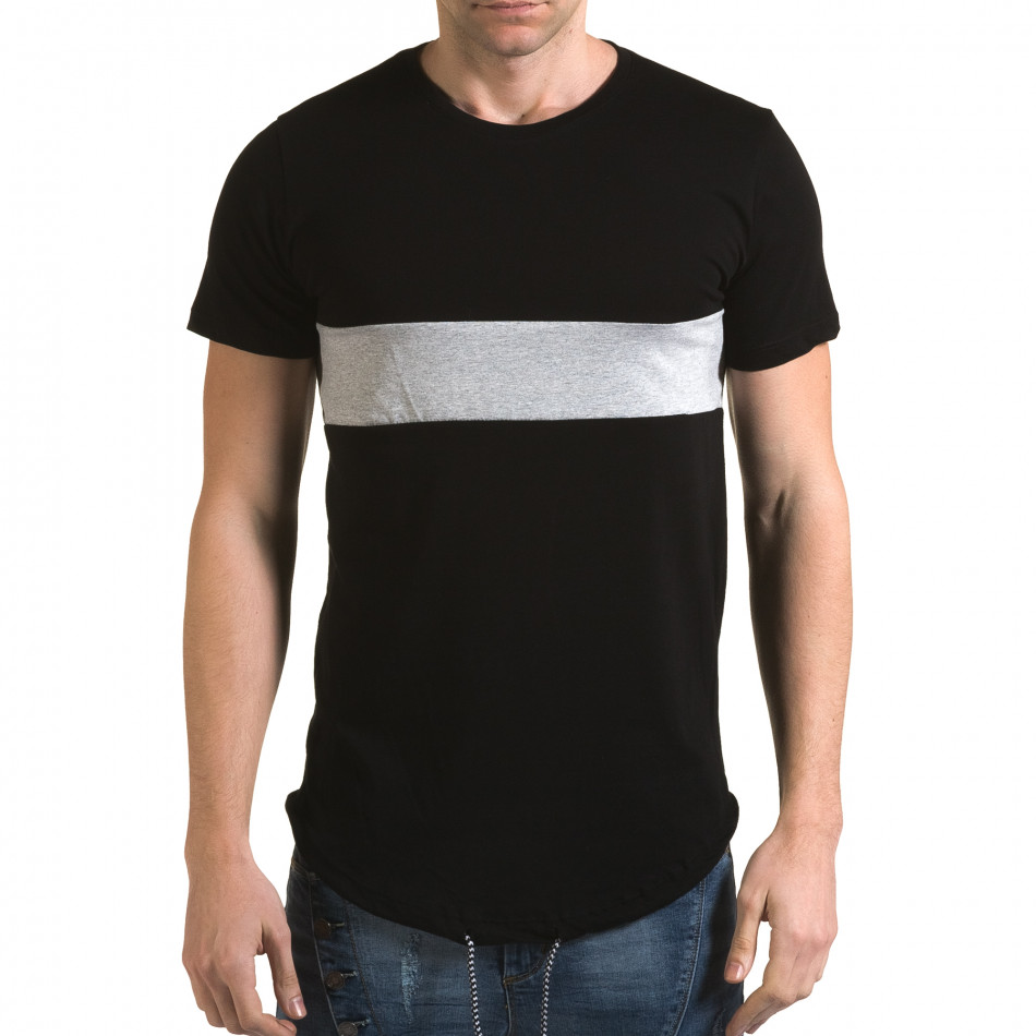 Tricou bărbați Man negru it090216-66