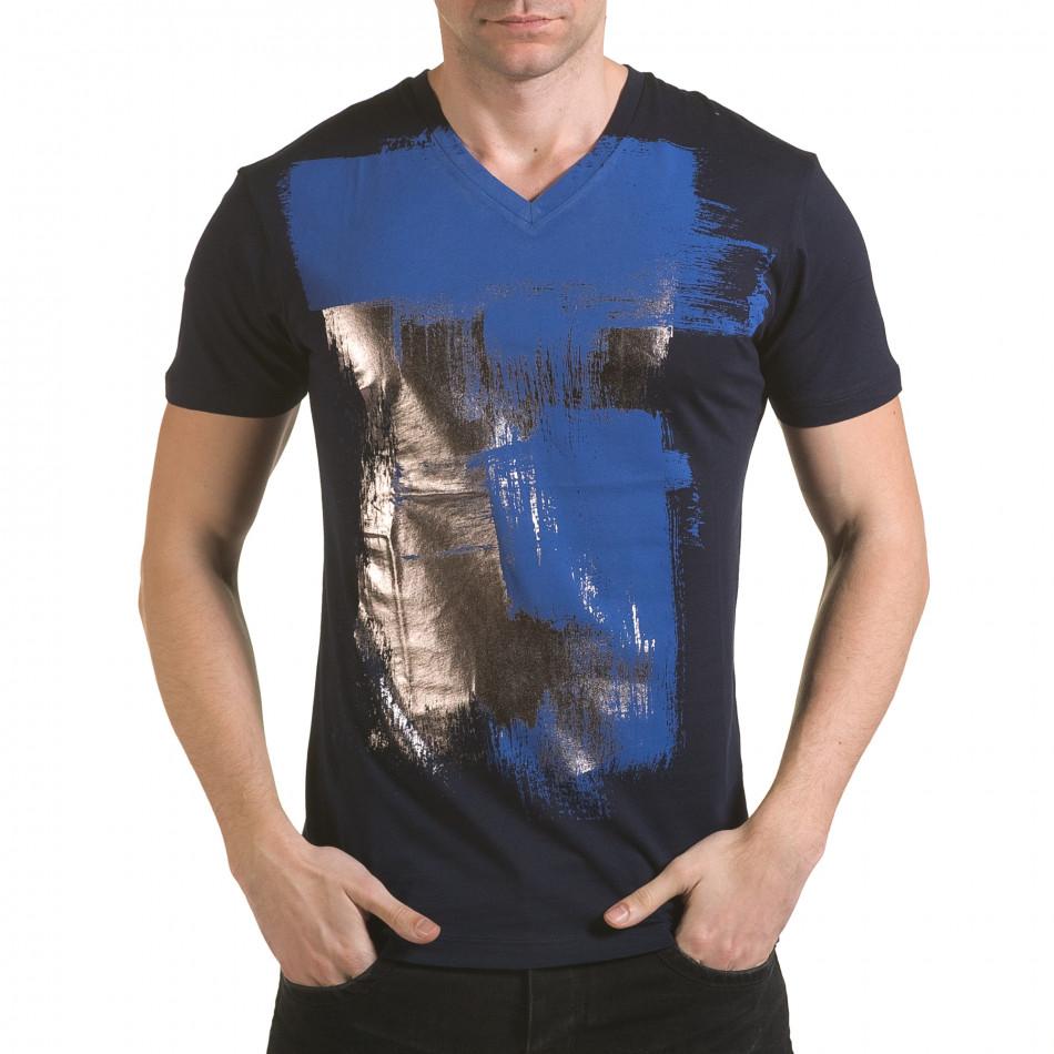 Tricou bărbați SAW albastru il170216-43
