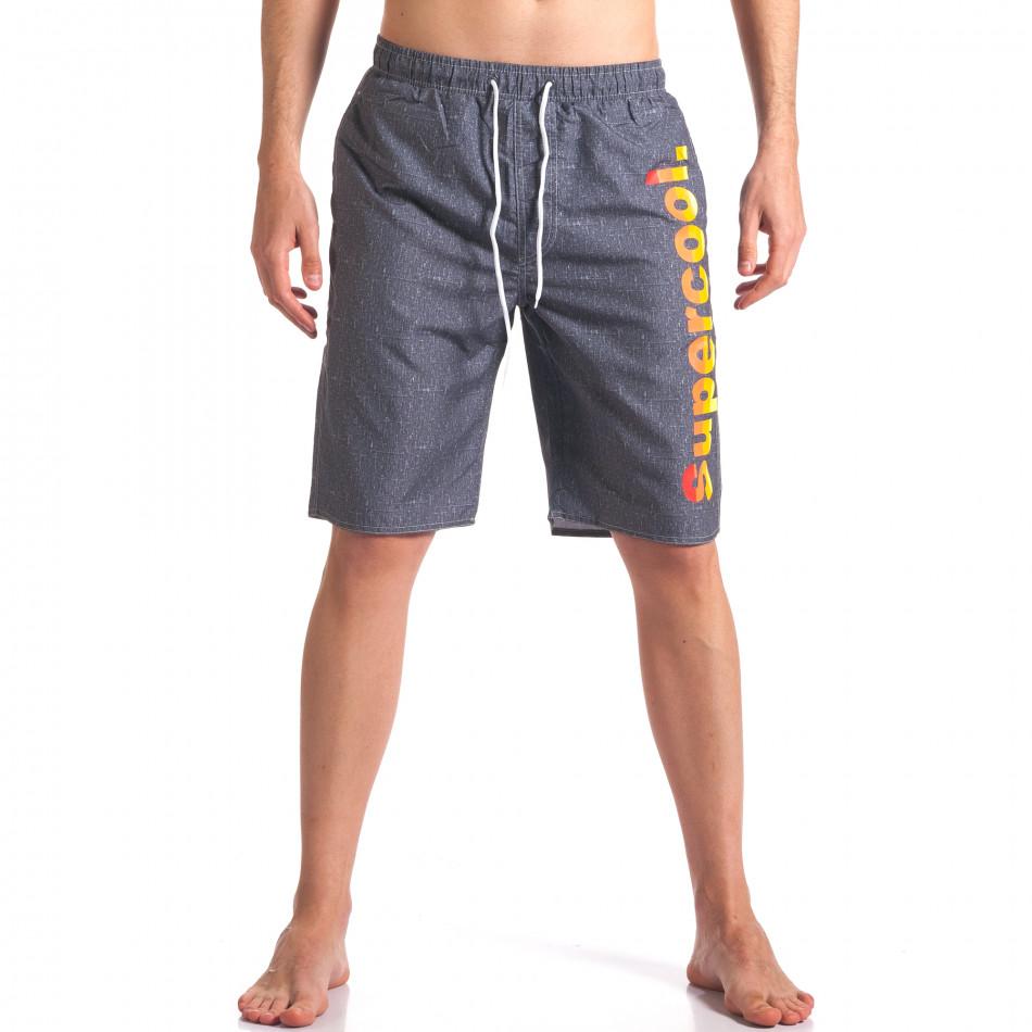 Costume de baie bărbați Austar Jeans gri it250416-43