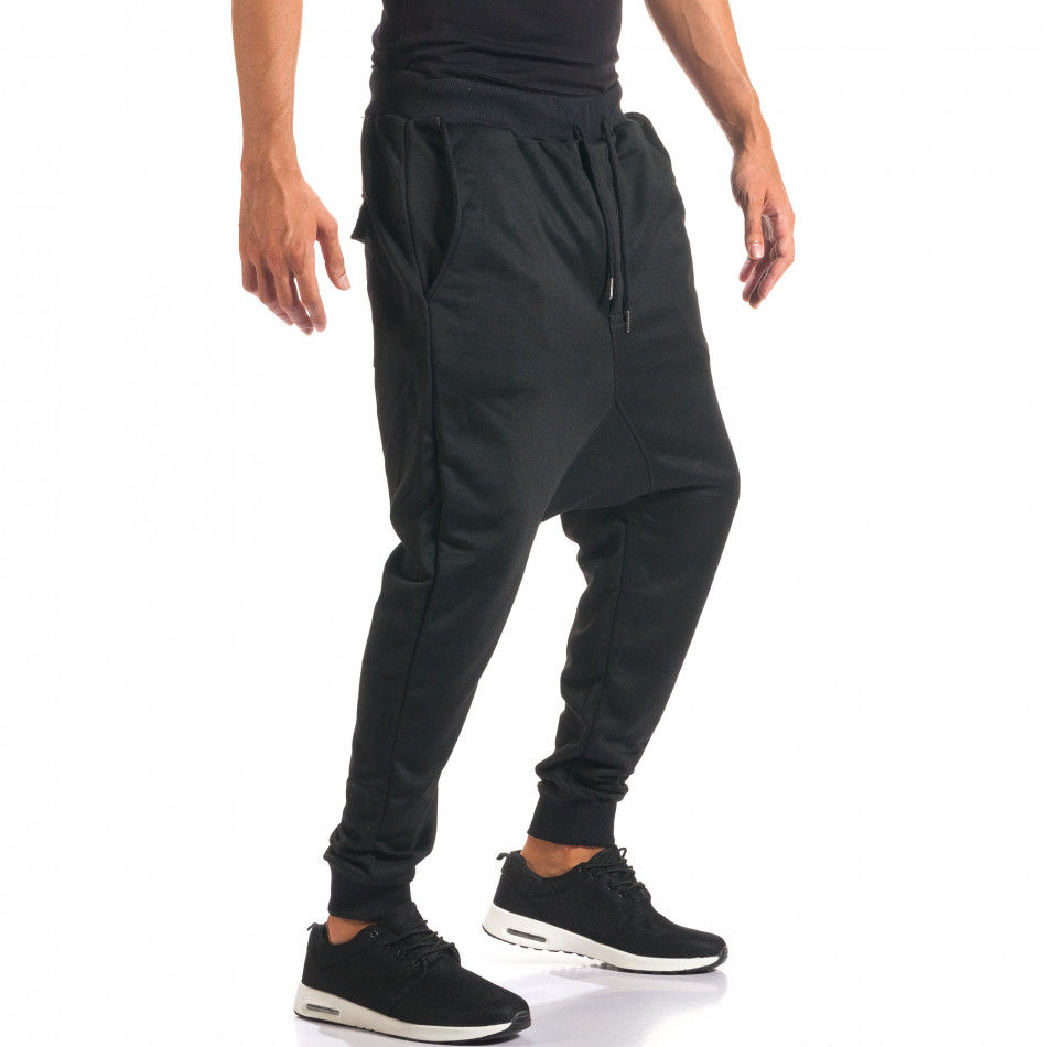 Pantaloni baggy bărbați Dontoki negri it160816-23