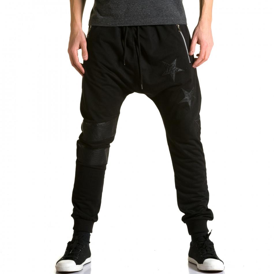 Pantaloni baggy bărbați Jack Davis negri ca190116-21