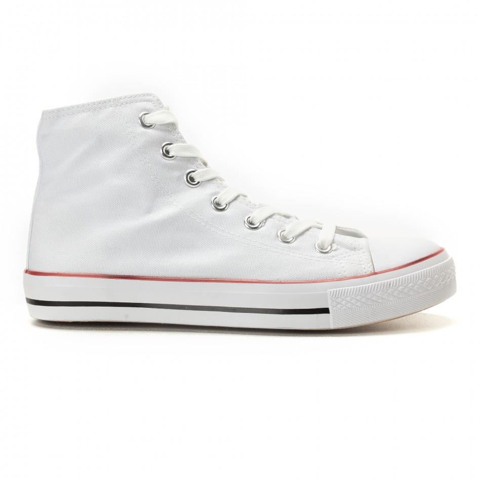 Teniși înalți albi model clasic pentru bărbați it260117-44
